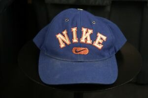 Rare Vintage NIKE Spell Out Swoosh Snapback Hat Cap 90s Hip Hop ... 556aab5d7198