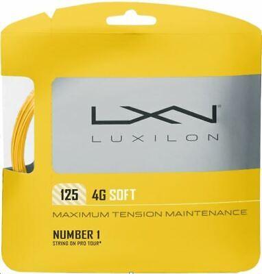 (2,25 €/m) Luxilon 4g Soft 12 M Corde Tennis- Un Arricchimento E Nutriente Per Il Fegato E Il Rene