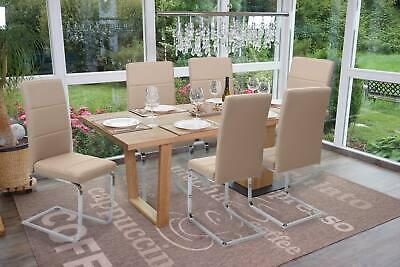 Simili Cuir Chrome 6x Chaise de Salle à Manger HWC-F27 Cantilever Cuisine