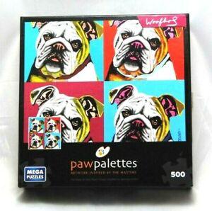 Bulldog-Woofhol-jigsaw-puzzle-Paw-Palettes-Mega-Puzzle-500-pieces