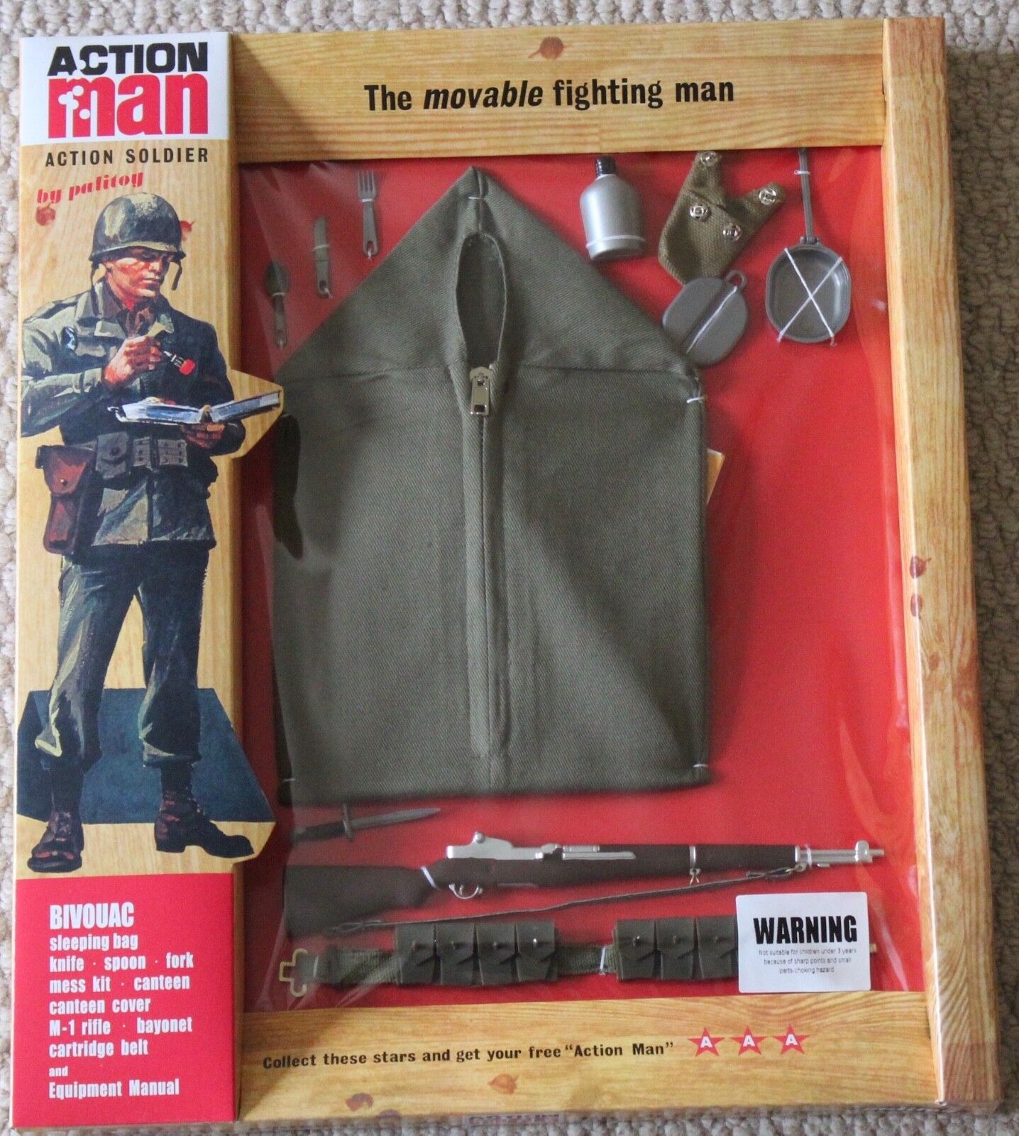 Vintage action man 40th anniversary bivouac sleeping bag set card boxed