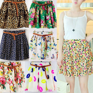 16 colors summer chiffon mini casual colorful skirts