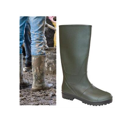 Stivale uomo in pvc gomma, stivali al ginocchio carrarmato caccia pesca 39 46 | eBay