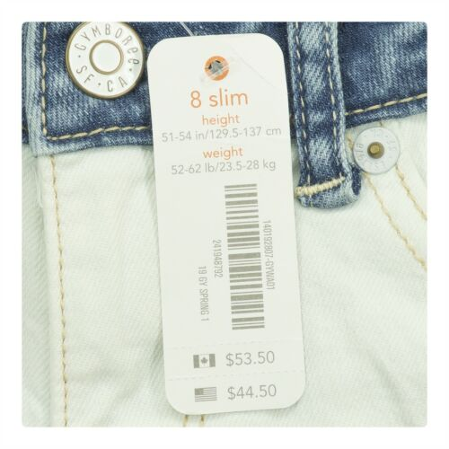 Gymboree Girls Clothes Multiple Sizes White Front Blue Back Skinny Kids Jeans