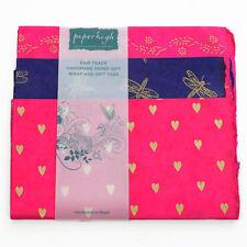 Commercio equo carta Lokta tre fogli regalo Wrap Pack gwp36