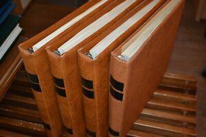 Vier-SAFE-Dual-Vordruckalben-Bund-1949-1995-mit-postfrischer-Bund-Sammlung