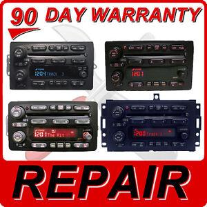 2004 05 06 chevy tahoe suburban blazer silverado radio 6 disc cd changer repair. Black Bedroom Furniture Sets. Home Design Ideas