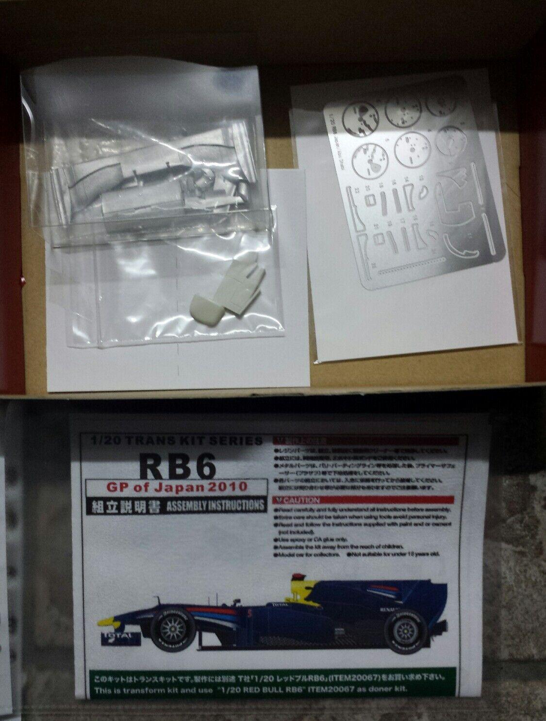 Nouvelle année nouvelle nouvelle nouvelle couleur Studio27 TK-2039 1/20 Red Bull RB6 Japan GP Transkit | Le Roi De La Quantité  d5f003