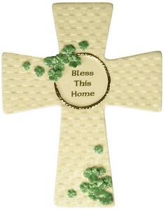 Roman Inc Irish Blessing Basket Weave Cross