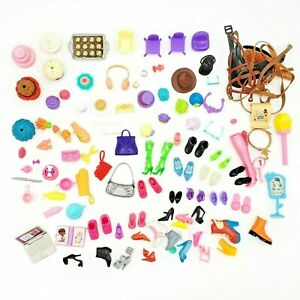 Barbie LOL Dolls Shopkins Accessories Shoes Food Wigs Mini Dollhouse Mixed Lot