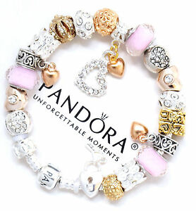 Image Is Loading Authentic Pandora Bracelet Silver Mom Mother Day Pink