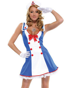 Image is loading Sailor-Cutie-Rockabilly-Pinup-Girl-Nautical-Sexy-Womens-  sc 1 st  eBay & Sailor Cutie Rockabilly Pinup Girl Nautical Sexy Womens Halloween ...