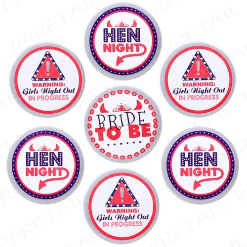 24 FUN Bride To Be Hen Party Badge Set L Plate Ladies Girls Night Bridesmaid