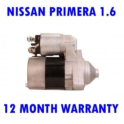 Nissan micra primera 1.6 16V 1996 1997 1998 1999 2000 2001 2002 starter motor