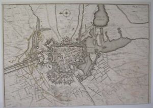 1744-MAP-PLAN-DES-ATTAQUES-D-039-YPRES-FRENCH-ATTACK-YPRES-FORTRESS-CITY-FLANDERS