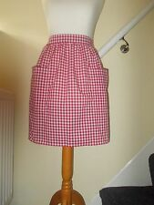 New 'Red Gingham ' Vintage Style Waist Apron/Pinny