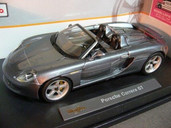 1 18 Maisto Porsche autorera GT Cabrio Grigio Mettuttiizzato 36622