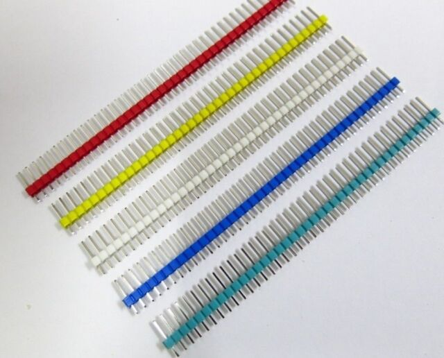 New Multicolor 2.54mm 40Pin Male Single Row Pin Header for Arduino DIY