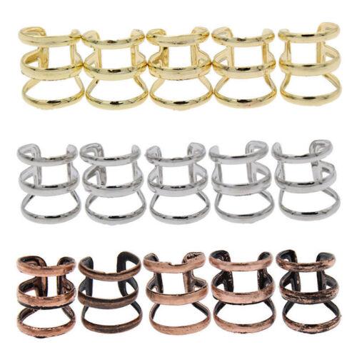 1 Pc Dreadlock Beads Dread Hair Braid Cuff Tube Clip Adjustable Hair Rings-!