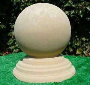 Stone Large Ball Finial - Stone Ball Finial - Garden Ball ...