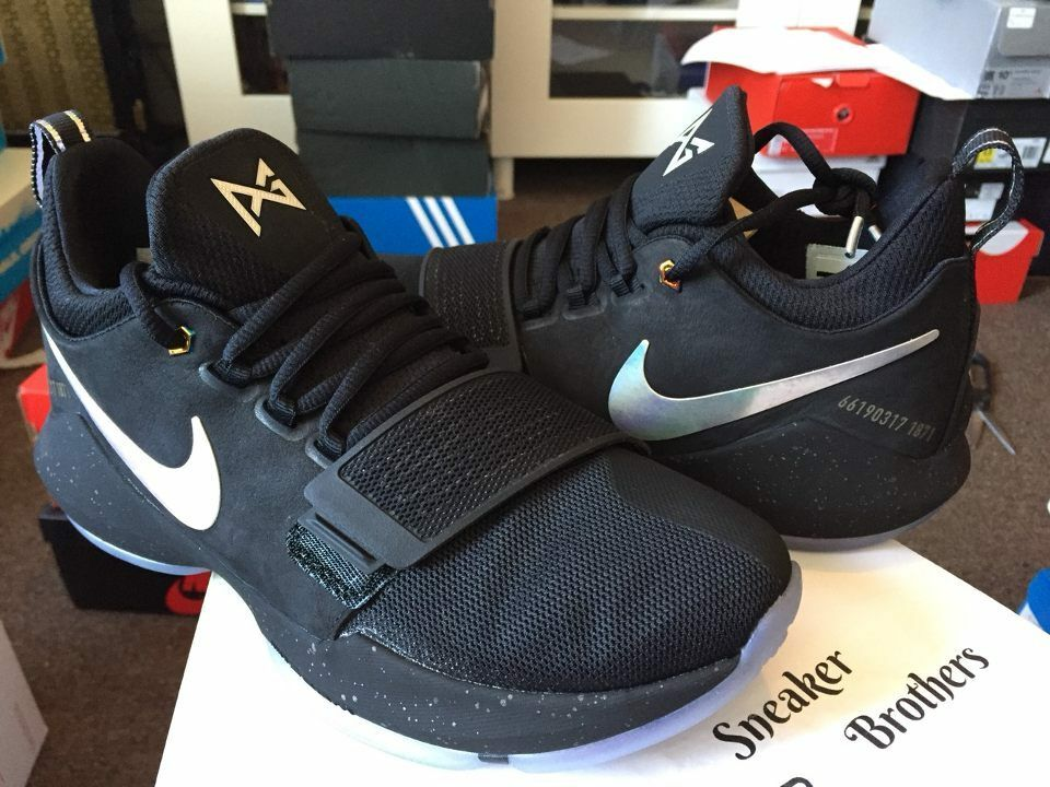 Nike PG 1 TS Prototype Pre-Heat Shining Black PG1 Paul George 911082-099 3M QS