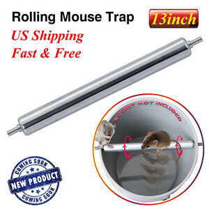 Original Rolling Log Mouse Trap Into Bucket Mice Rats