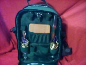 Picnic Time Inc Insulated Backpack Service For 2 Hunter Green Ebay