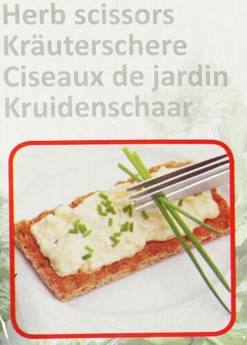 WOW Kräuterschere Küchenschere  Schere für Kräuter ideal zum Garnieren