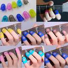 4pcs Bass Guitar Ukulele Thumb Picks Fingertip Protectors Silicone Finger Guards