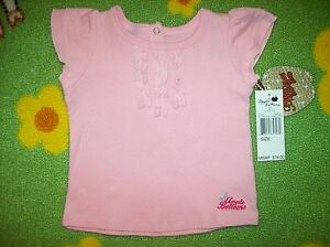 Apple-Bottoms-Baby-Infant-Girls-Shirt-Pink-Size-12-18-24-Months