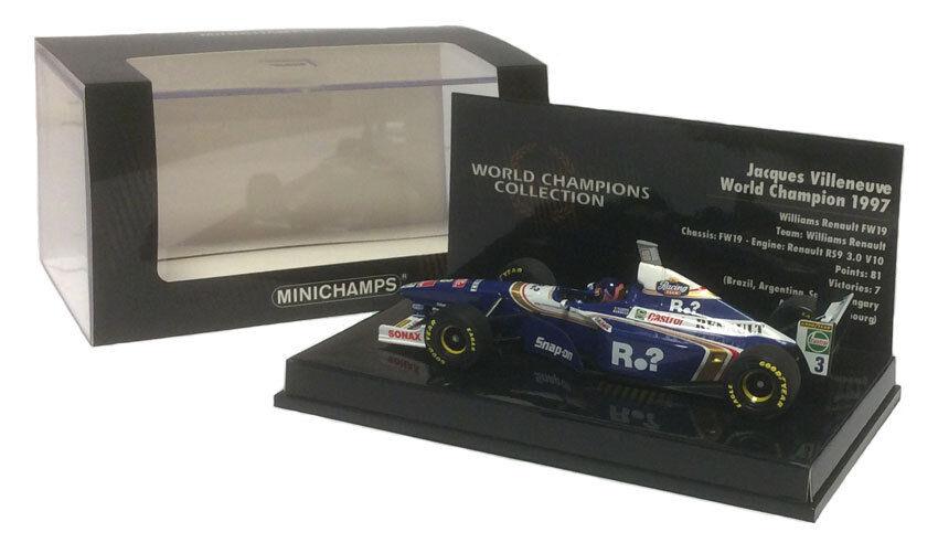 Minichamps Williams FW19  3 champion du monde 1997-Jacques Villeneuve échelle 1 43