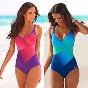 heißes Produkt Einkaufen billiger Details zu Bademode Frauen Damen Monokini Einteiler Badeanzug Schwimmanzug  Strand Sport