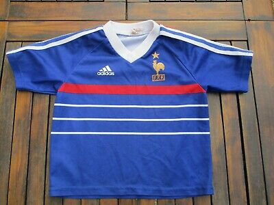 Maillot équipe de FRANCE Mondial 98 vintage ADIDAS shirt maglia trikot 6 ans | eBay
