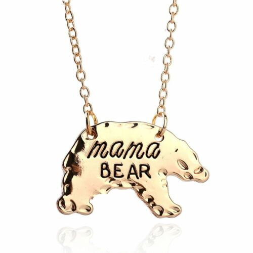 Mother Bar Monogram Mother/'s Day Gift Pendant Jewelry Necklace Mama Bear