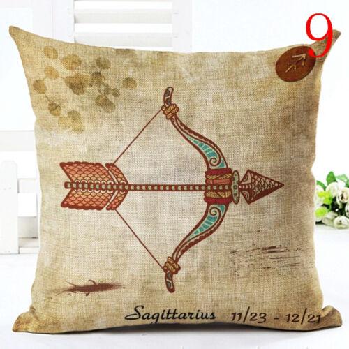 12 Zodiac Signs Cushion Cover Pillowcase Sofa Home Decor Throw Pillow Cojin