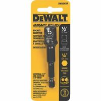 Dewalt Impact Ready Socket Adapter - 1/4 Hex To 1/2 Socket Tools Drivers