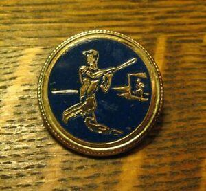 Baseball Player Lapel Pin - Vintage Ball Diamond Dugout Batter Sports Team Badge