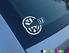 VW EAT HONDA PACMAN GOLF 1.8T GTI TDI FUNNY CAR STICKER DECAL VAG DUB R32 20VT