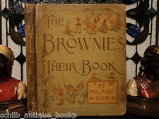 1887 1st ed Brownies by Palmer Cox Celtic Elf Mythology Illustrated Children's