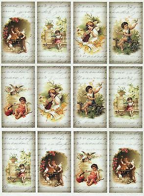 Scrapbook Sheet Craft Vintage Angels Decoupage Rice Paper for Decoupage