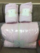 Pottery Barn Kids Corduroy Cozy Plush Quilt Shams Full//Queen Light Pink New