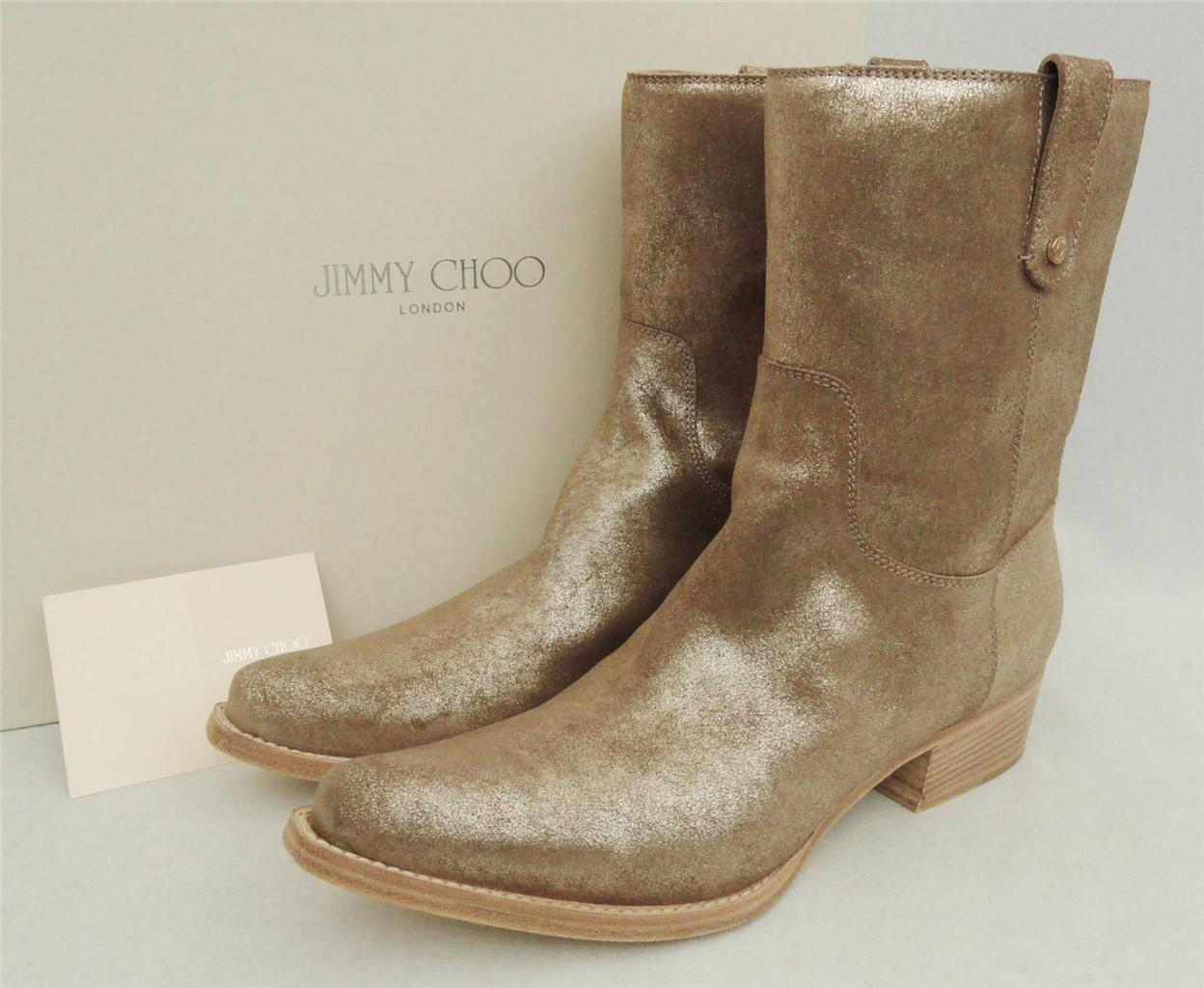 Jimmy Choo Gold UK8 Cowgirl Stiefel schuhe UK8 Gold EU41 590GBP Great Gift 2760d6