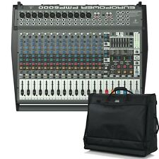 Behringer EUROPOWER PMP6000 Powered Multi-Effects Mixer + Gator Carry Bag
