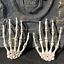 Halloween-Skull-Skeleton-Human-Hand-Bone-Zombie-Party-Terror-Adult-Scary-Props miniature 2