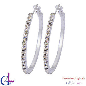 Ohrringe Damen Silber Gold Swarovski Elemente Original G4Love Kristalle Kreise