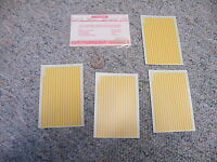 Walthers Decals Ho Accesories D306y Stripes 3/32 Yellow C71