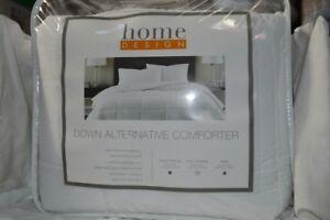 Home Design Fullqueen Down Alternative Comforter White Nip