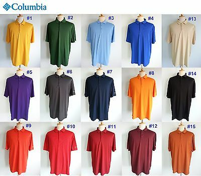 7348 *NEW $50 Columbia Men's Omni-Wick Round One Polo Golf Shirt Top XL XXL 2XL