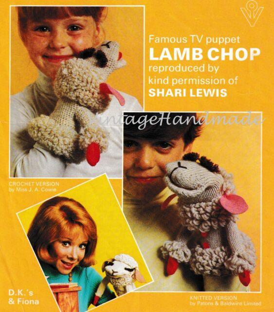 Vintage Knitting & Crochet Pattern Patons 1239 Lamb CHOP ...