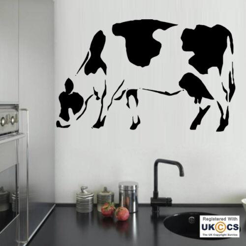 Pegatinas de Pared Vaca Animal De Granja Campo Cool Dormitorio Hall Sala de Arte Calcomanía Vinilo